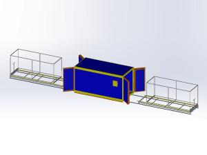 Powder Coating Oven with Track Trolley