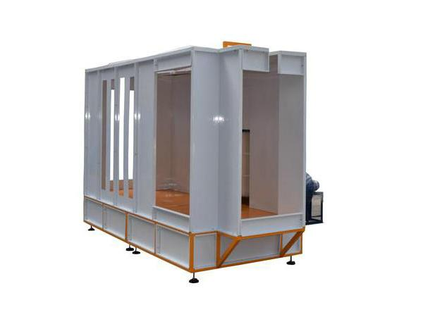 Tunnel Powder Coating Booth COLO-S-3145